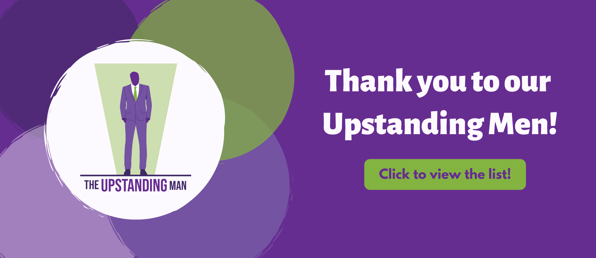 Upstanding Man Thank You Web Slider 2020